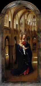Maria met kind in een kerk (1440) - Jan van Eyck
