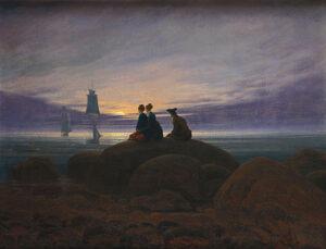 Mondaufgang am Meer / Maanopkomst bij de zee (1821) - Caspar David Friedrich