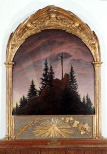 Tetschener Altar / Das Kreuz im Gebirge / Het kruis in de bergen (1808) - Caspar David Friedrich