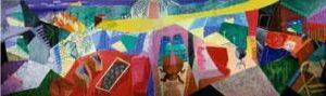 A Visit with Christopher and Don, Santa Monica Canyon (1984) - David Hockney