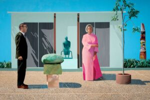 American Collectors (Fred and Marcia Weisman) (1968) - David Hockney