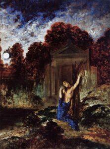 Orphée sur la tombe d'Eurydice / Orpheus bij het graf van Eurydice / Orpheus at the Tomb of Eurydice (1891)  - Gustave Moreau