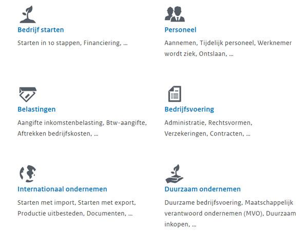 Belangrijkste websites voor ondernemers