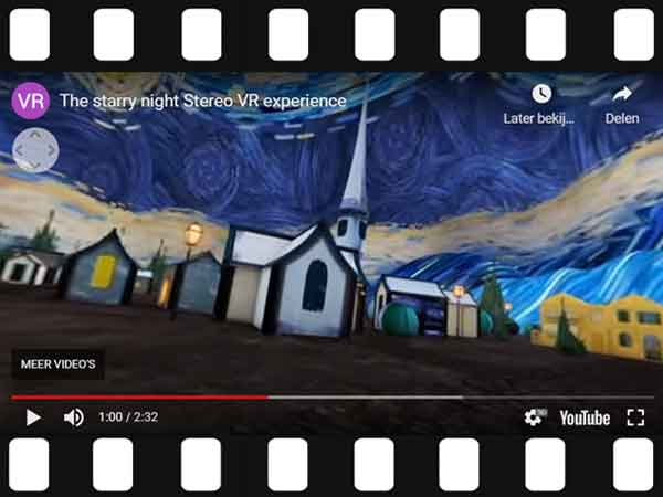 Vincent van Gogh's De Sterrennacht in 3D / VR