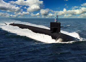 Artist's weergave van de geplande Columbia- klasse onderzeeër (Naval Sea Systems Command)