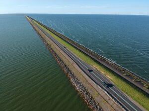 Houtribdijk in Nederland