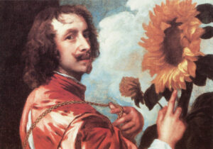 Zelfportret met een zonnebloem (1632-1663) - Anthony van Dyck