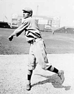Babe Ruth spelend voor de Boston Red Sox