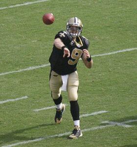 Brees in 2008 op Fedex Field